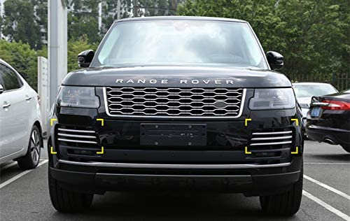 Silver Fog light vent grille cover Strip trim For Range rover L405 2018 2019