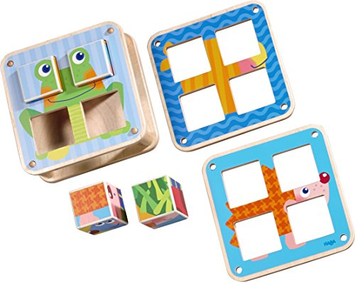 HABA Cubes Puzzle Garden Animals - 6 Different Block Puzzles for Ages 2 and Up ()