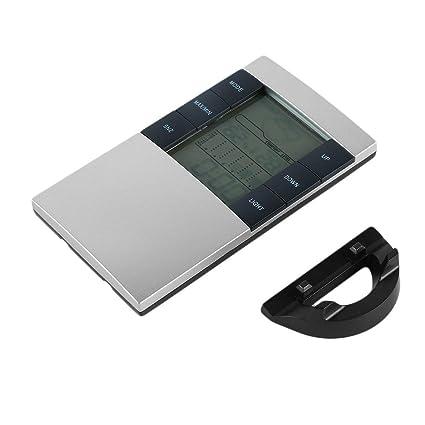 Humedad Monitor de Tiempo del Reloj del Puesto de aplicación Hogar Digital LCD Termómetro higrómetro electrónico