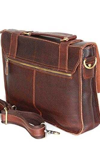 Messenger, computer portatile borsa di cuoio, spalla borsa UNISEX, qualità piccole e medie (34 / 25 / 10) Buffalo pelle Italia