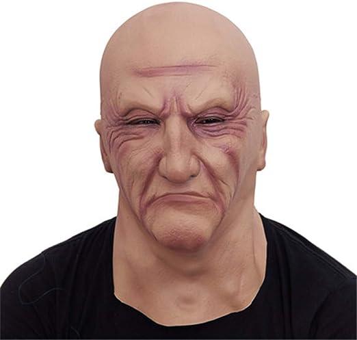 JIAHE Realista látex Viejo Hombre máscara Hombre Disfraz Halloween ...