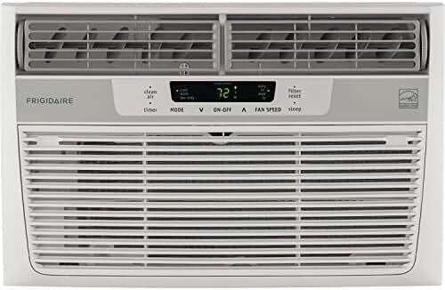 Frigidaire FFRE0833S1 8,000 BTU 115V Window-Mounted Mini-Compact Air Conditioner with Temperature-Sensing Remote Control
