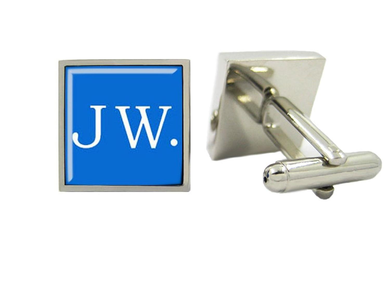 LBFEEL Custom Blue JW Cuff Links with a Gift Box