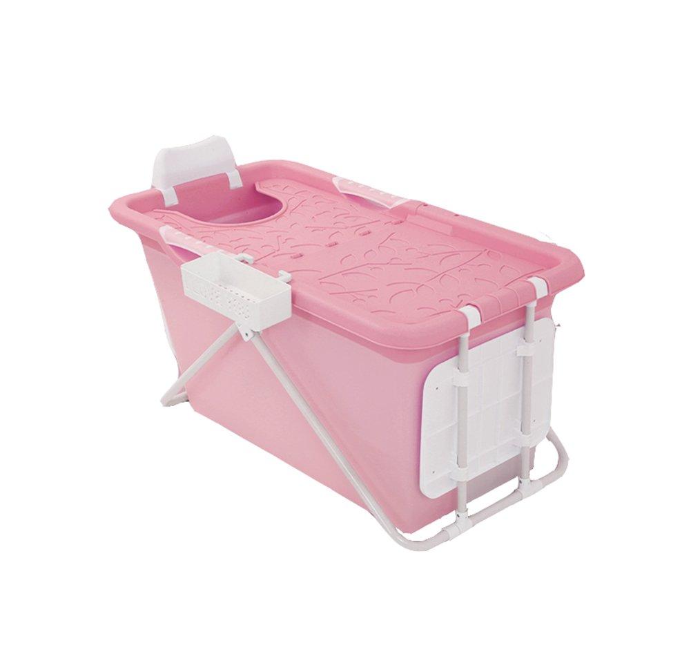 QXJPZ Vasca da bagno, piega in plastica per adulti Vasca da bagno adulti Vasca da bagno Vasca da bagno bambino bambino Vasca da bagno Vasca da bagno Vasca da bagno extra large Addensare blu Rosa verde