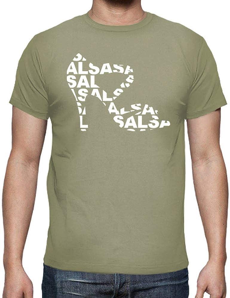 latostadora - Camiseta Zapato de Baile con Salsa para Hombre Caqui M: shinkitune: Amazon.es: Ropa y accesorios
