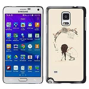 iKiki Tech / Estuche rígido - Spring Deep Reality Boring Meaning - Samsung Galaxy Note 4 SM-N910F SM-N910K SM-N910C SM-N910W8 SM-N910U SM-N910