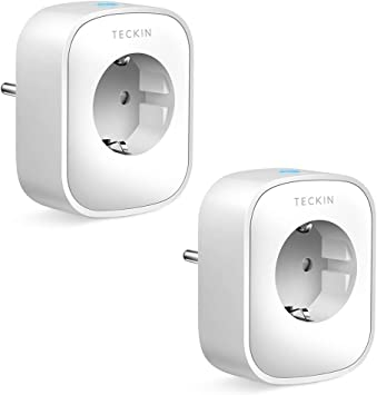 TECKIN Enchufe Inteligente, 16A 3680W Enchufe WiFi Con Monitor de Energía, Compatible con Alexa & Google Home, Enchufe con Control Remoto y Función de Temporizado, Enchufes Inteligentes 2 Packs: Amazon.es: Bricolaje y