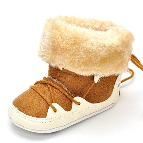Estamico Botas de invierno para bebés, ideal para la nieve Pink Knit Talla:12-18 meses caqui