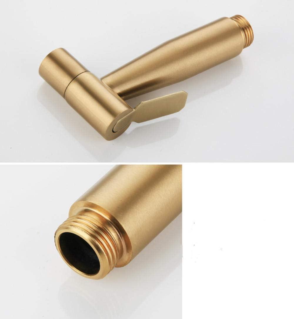Edelstahl Bidet Spr/ühkopf Kit-SUS304 WC Bidet Spr/ühset geb/ürstetes Gold Eckventil Spritzpistole