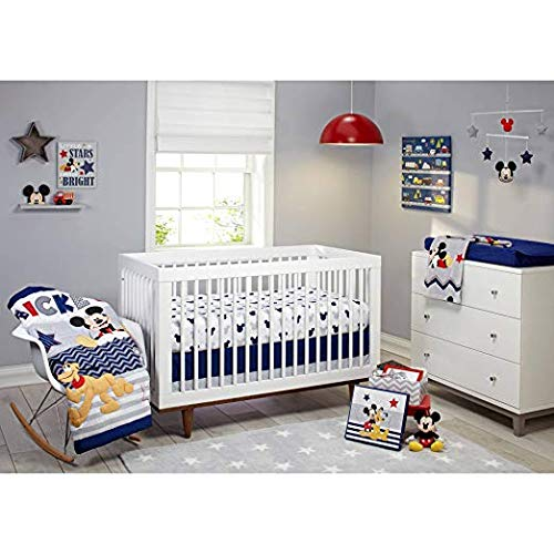 Disney Let's Go Mickey II 4-Piece Crib Bedding Set ()