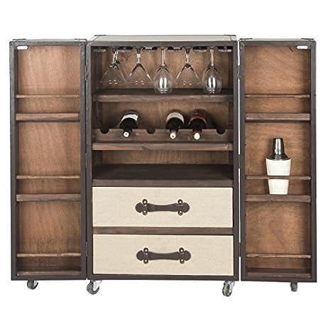 Amazon.com: Industrial Liquor Cabinet Storage Buffet with Doors ...
