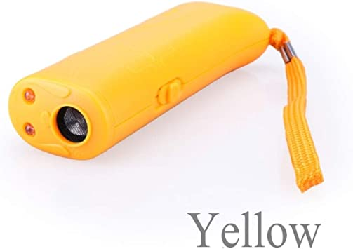 lan Strengthen Pet Dog Training Equipment Ultrasound Repeller 3 In 1 Control Trainer Device Yellow