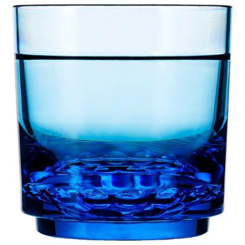 Drinique ELT-RK-BLU-24 Elite Rocks Unbreakable Tritan Whiskey Glasses, 10 oz (Case of 24), Blue by Drinique (Image #1)