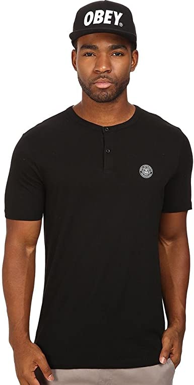 Obey Mens Mission Henley Shirt OBEY Apparel 131080176