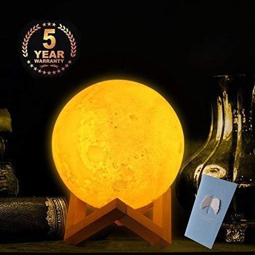 Grosser 20cm 3d Mond Lampe Mit Fernbedienung Fur Kinderzimmer 2farbe Amazon De Beleuchtung