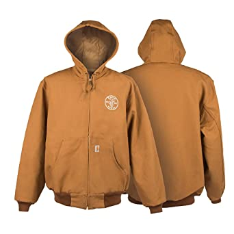 on feet shots of 100% authentic best sell Klein Tools MBA00049-2 Large Carhartt Hooded Jacket With ...