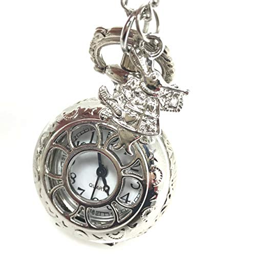 UMBRELLALABORATORY Steampunk Pocket Watch Necklace | Victorian Style,