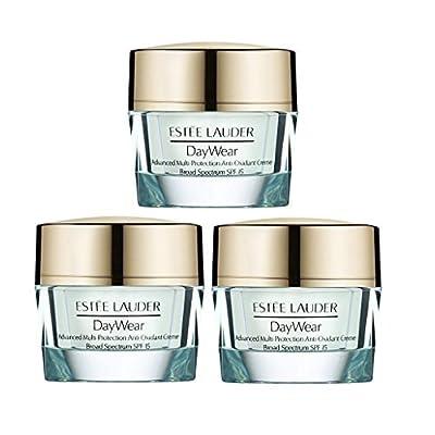 Estee Lauder DayWear Advance Multi-Protection Anti-oxidant Creme SPF15 - 1.5oz/45ml Travel Size (Set 3 Jars .5oz each)