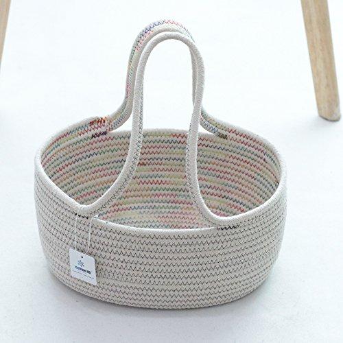 ICEBLUE HD Natural Cotton Rope Flower Basket Gift Basket Storage Basket for Wedding Party Decoration -