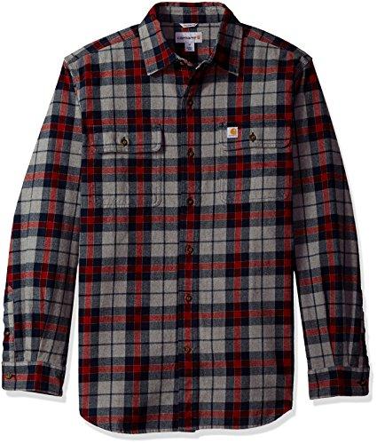 Carhartt Men's Hubbard Plaid Shirt, Navy, Large