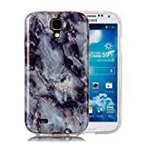 Galaxy S4 Marble Case, Harsel Ultra Thin Premium Stone Texture Collection Hybrid Flexible Light Weight Soft TPU Bumper Anti-Scratch Protective Durable Case Cover for Samsung Galaxy s4 (Grayish Blue)