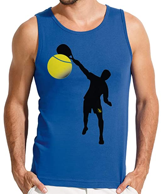latostadora - Camiseta Sin Mangas Chico - Padel para Hombre Azul Royal S