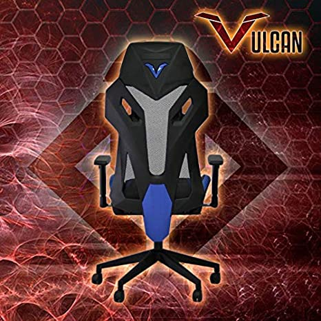 BattleSeat Silla Gamer Vulcan (Azul), DISEÑO, Mecanismo Syncro, Respaldo de Malla de buenísima Calidad, largas jornadas de competición y Entrenamiento.