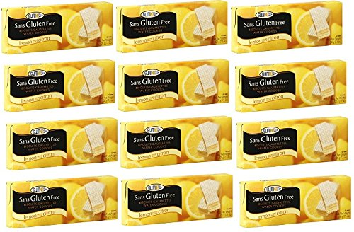 Glutino Lemon Wafer Cookies, 7.1 oz (Pack of 12)