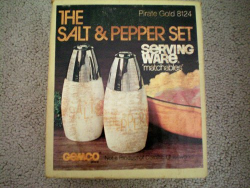 Salt & Pepper Set ... Pirate Gold ... Matches Corning Ware Corelle Gold Butterfly
