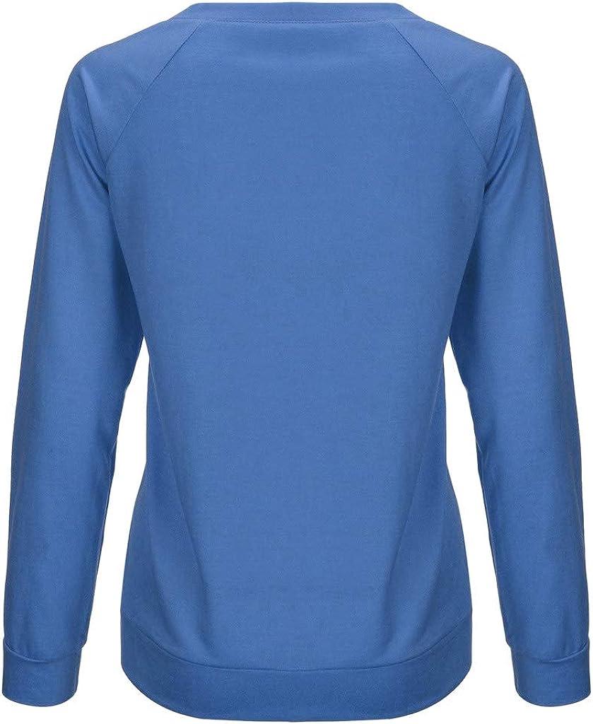 Frauen Berge Mountain Pullover Teenager M/ädchen Retro Pulli Sweatshirt Langarm Shirts Elegant Bedrucktes Oberteil Hemd L/ässig Oversize Bluse Tops Langarmshirt Damen
