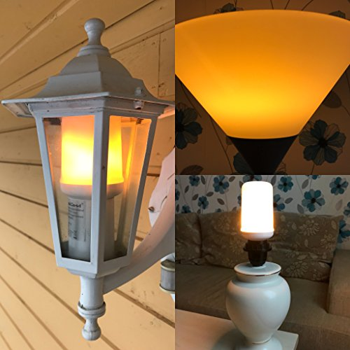 Led Flicker Flame Effect Light Bulb Best for Party, Halloween and Christmas. E26 Socket, 3 Modes, Decorative and Creates Nice Atmosphere. Makes a Great Gift