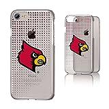 Keyscaper NCAA Louisville Cardinals UL Dots Clear Case, iPhone 8/7/6, Clear