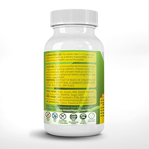 Potent vegan omega 3 supplement w essential fatty acids for Vegetarian fish oil