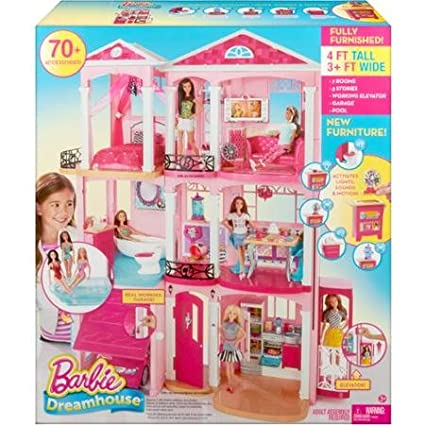 Barbie Dreamhouse 3 Floors 7 Rooms And A Working Elevator Let Kids Dream Up All