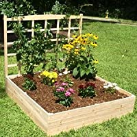 4ft. x 4ft. Eden Raised Garden Bed with Trellis