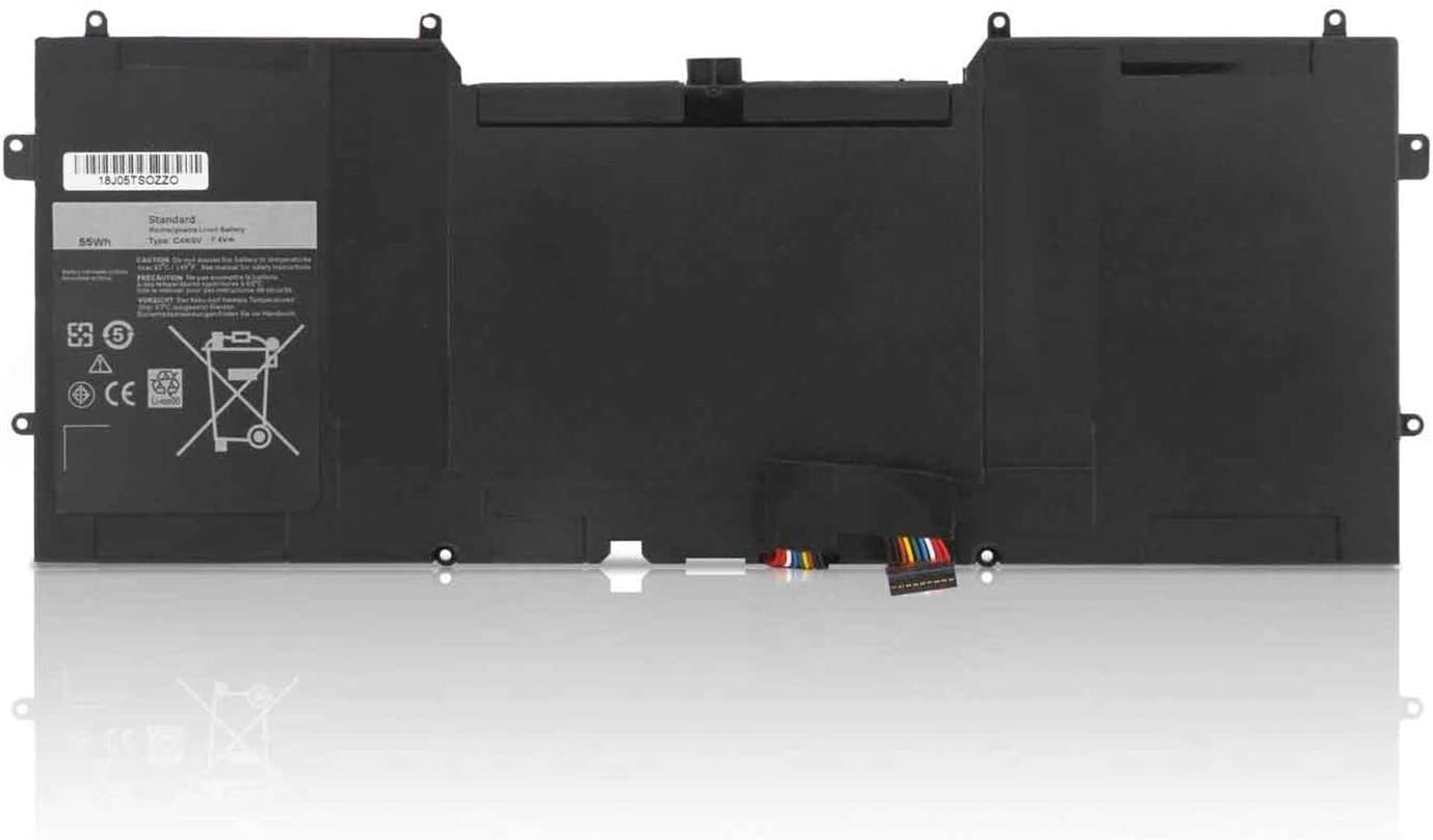 C4K9V Laptop Battery for DELL XPS 12 -L221 x 9Q33 13 9333 Ultrabook 13 XPS13 13-L321 X 13-L322X XPS L321X L322X Series Laptop Notebook PC PKH18 489XN 3H76R (55Wh 7.4V)