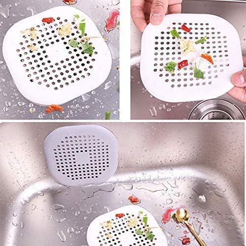 Fishyu 2Pcs Silicona Cocina Sink Strainer Cuarto de Ba/ño Cabello Filtro Bathtub Drain Cabello Atrapasue/ños Ducha Drain Cubierta con Sucker