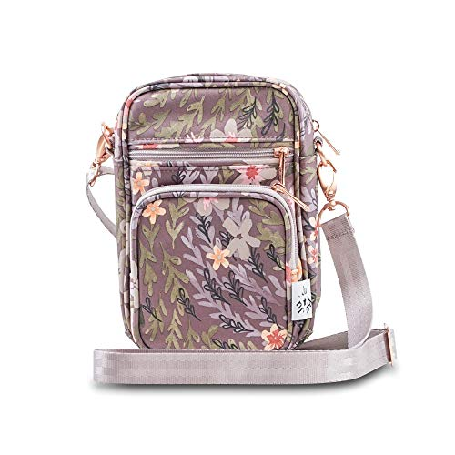 Jujube Mini Helix Multi-Functional Crossbody Messenger/Diaper Bag - Sakura at Dusk