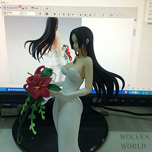 ONE PIECE sexy Dolls White Wedding Dress Female Emperor Boa Hancock PVC Action Figure