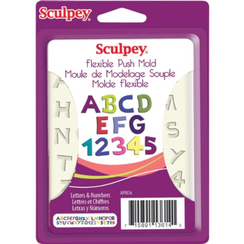 Sculpey Flexible Push Clay Mold, Letters and - Sculpey Push Mold