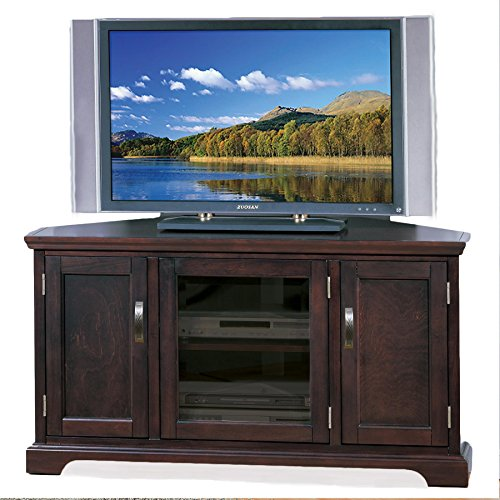 - Leick Riley Holliday Corner TV Stand with Storage, 46-Inch, Chocolate