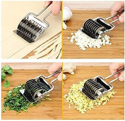 Zeerkeer Pasta Machine Stainless Steel Noodle Paste Roller for Cooking Kitchen