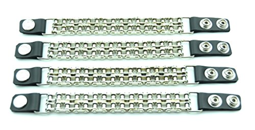 Vest Extenders Mc Jacket Leather & Double Bike Chain 4 (Double Chain Vest Extender)