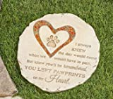 Memorial Stones For Beloved Pets, Two Different Designs (Circle)