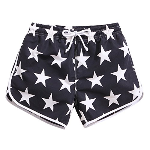 SULANG Women Lightweight Quick Dry Stars Graphic Board Shorts Medium - In Swim Running Shorts