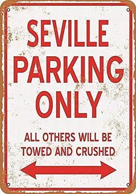 Toddrick Sevilla Estacionamiento sólo Lata Chic Sign Vintage ...