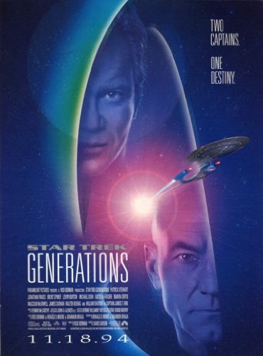 Star Trek Generations Poster 24x36 Ships Rolled In Cardboard Tube