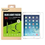"""Cyxus Blue Light UV Filter [Sleep Better] 9H Tempered Glass Screen Protector for Apple iPad Pro 9.7""""(9.7inch)"""