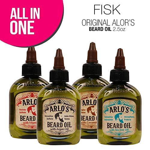 Price comparison product image (4 PACK) FISK Arlo's Beard Oil Includes Argan Tea Tree Vitamin E and Coconut