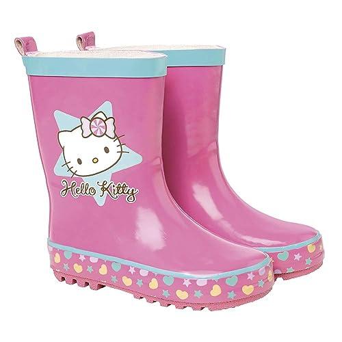 0079655793c45 PERLETTI Stivaletti Pioggia Bimba Hello Kitty - Stivali Impermeabili Bambina  Gatto Hello Kitty - Scarpe in